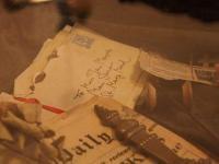 Café Sherlock in Hillesheim: Miss Marple-Tisch