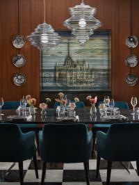 Private Dining Room der gehobenen Klasse im Mandarin Oriental, Milan