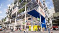 IKEA am Westbahnhof wird 2021 eröffnen. In die beiden oberen Stockwerke zieht JO&JOE ein. Die öffentlich zugängliche Dachterrasse wird gemeinsam genutzt. / Bildquelle: IKEA