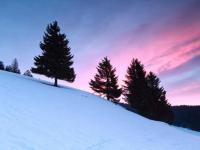 Das Alpenglühen in den letzen Stunden des Tages ist besonders schön