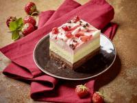 Erdbeer-Vanille-Schoko Schnitte