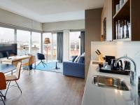 Gut ausgestatte Küche im Residence Inn Amsterdam Houthhavens, Bildquelle Marriott