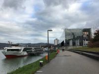 Der Schiff an der Anlegestelle Linz
