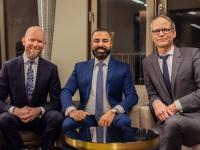 vlnr: Christian Moll, David Etmenan & Dr. Stefan Gneuss / Bildquelle: NOVUM Hospitality