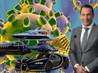 Josip Heit in einer Allegorie zum Thema Luxus und Corona