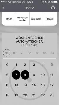 Unkompliziert und effizient: Über die kostenlose HANSA Connect App** kann ein automatischer Spülplan erstellt werden.