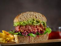 Veganer Burger, Querschnitt / Bildquelle: Beide Transgourmet
