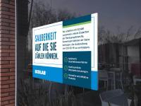 Vertrauen = Sicherheit = Sauberkeit: Ecolab Hygiene-Kommunikation mit Fensterbildern am PoS (Point of Sale) / Bildquelle: Alle Bilder Ecolab