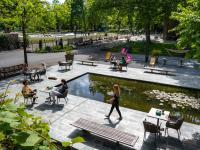 Garten des des Amsterdam Tropen Hotel