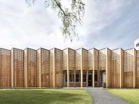 Holzverkleidung des Biohotel Sturm / Bildquelle: © Ralf Dieter Bischoff