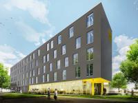 Mit dem Zleep Hotel Hannover kommt das dritte Haus der skandinavischen Marke nach Deutschland. / Bildquelle: Christian Rathmann_Bünemann & Collegen GmbH - Architekten