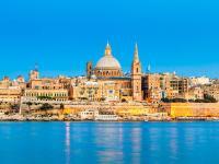 Skyline der Hauptstadt Valletta auf Malta