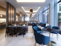 Lichtdurchflutetes Restaurant: Das Restaurant im Adina Köln befindet sich im Erdgeschoss mit direktem Zugang zur Terasse und Sitzplätzen im Außenbereich. Der offen gestaltete Raum ist dank der bodentiefen Fensterfront hell und lichtdurchflutet.