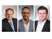 Stefan Marczinkowski, Thomas Nixdorf und Christopher Neuner (v. l. n. r.) verantworten zukünftig die IntercityHotels in Darmstadt, Hannover und Nürnberg / Bildquelle: Steigenberger Hotels AG