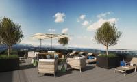 Beste Aussichten für 2021: Das Adina Munich bietet mit seiner Außenterrasse im 15. Stock einen atemberaubenden Blick auf die Stadt und die Alpen