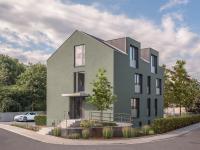 Micro Living ist auch im ländlichen Raum angekommen: In der badischen Kleinstadt Kenzingen haben Christoph und Stephan Schmidt ein dreigeschossiges Wohnhaus errichtet, in dem sieben moderne Apartments zum Wohnen auf Zeit zur Verfügung stehen. / Bildquelle: Alle Bilder Häfele