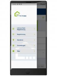Screenshot der SecTrace-App / Bildquelle: UET United Electronic Technology AG