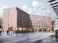 Neu in der Stadt der Sieben Türme: In Lübeck soll bis 2023 ein neues IntercityHotel entstehen/ Bildquelle: MW3D Studio
