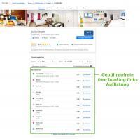 caesar data Schnittstelle Google free booking links Ansicht / Bildquelle: Google / SoftTec GmbH