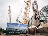 Die Tiefbauarbeiten am Elbtower beginnen mit den Gründungsarbeiten
