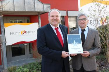 Versicherungsmakler Fritz & Fritz gewinnt Star Award 2014