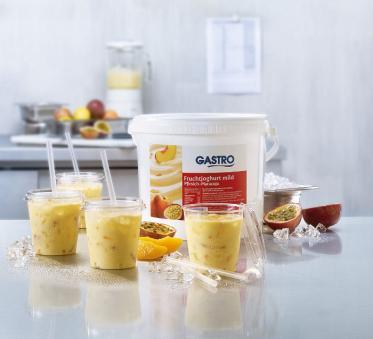 Schnelles und sommerliches Rezept: Pfirsich-Maracuja Frullato von GASTRO