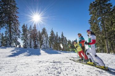 Alles läuft perfekt für Familien-Skitage im Böhmerwald