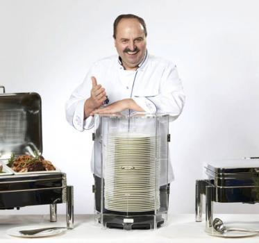 Tellerwärmer Gastronomie: Lafer und Lampe mögen's heiß!