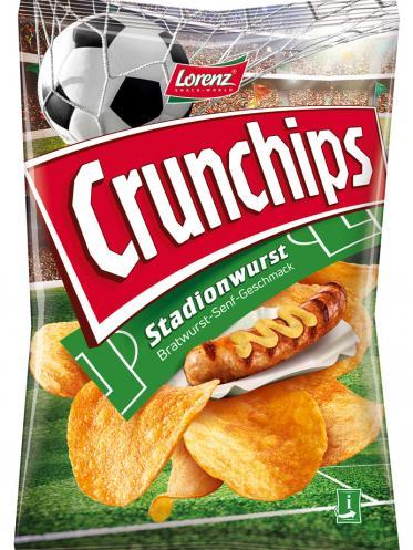 Crunchips Stadionwurst für die Fußball-Party zu Hause