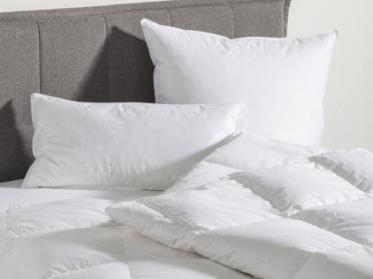 Downpass Gütesiegel für alle Bettwaren von Wäschekrone