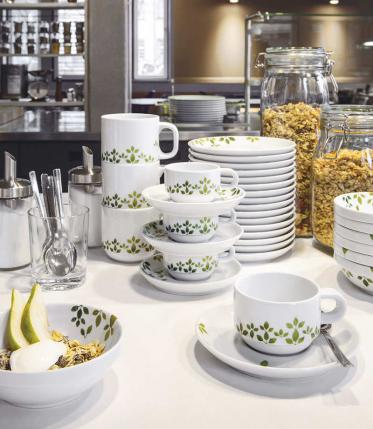 KAHLA Dekor 'Leaves' für Ihr Betriebsrestaurant