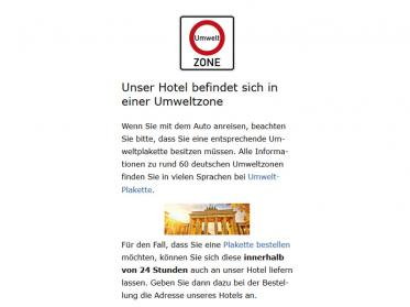 Umwelt-Strategien für Hotels mit Green-Zones Text-Snippets