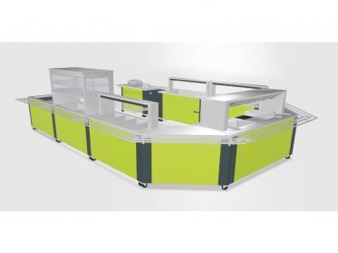Thekenbau für die Gastronomie in 3D