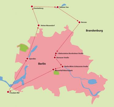 Fahrradtour Berlin - Umland Brandenburg - Berlin