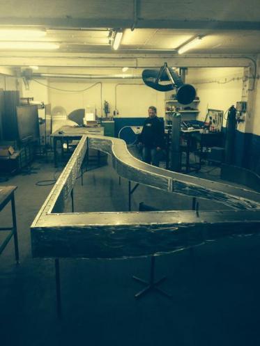 Ein Kunstwerk entsteht in der Elbphilharmonie Hamburg