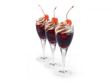 Dessert-Vorschläge von Debic: Choctail mit Himbeerpüree