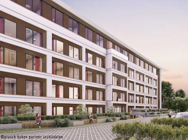 Adagio access Hamburg Mühlendamm wird gebaut