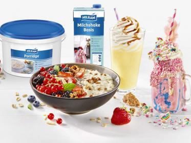 Milram Porridge und Milchshake für neue Zielgruppen