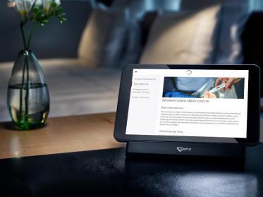 Update der Hotel-Tablets mit Infos zu aktuellen Corona-Verhaltensregeln