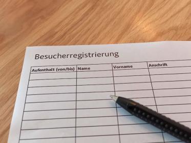 Besucherregistrierung in der Gastronomie