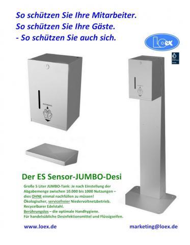 Sensor Desinfektionsmittelspender Standgerät für berührungslose Hygiene