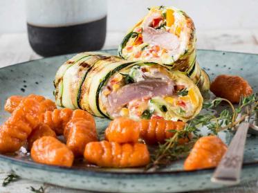 Matjes Rezept mit Zucchini und Süßkartoffel-Gnocchi