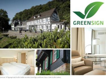 Nachhaltigkeits-Zertifikat für das Seminar- & Tagungshotel Große Ledder