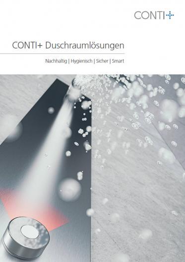 Neue Broschüre CONTI+ Duschraumlösungen erhältlich