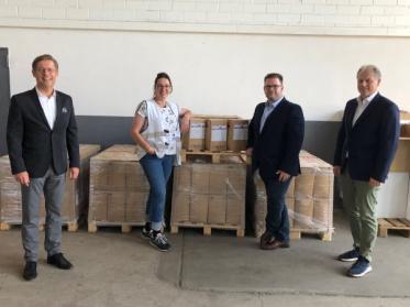 Unwetter-Hilfe für Erftstadt: CONTI+ spendet mehr als 2.000 Liter Desinfektionsmittel