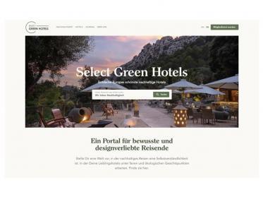 Buchungsseite Select Green Hotels stellt Design und Nachhaltigkeit in den Mittelpunkt