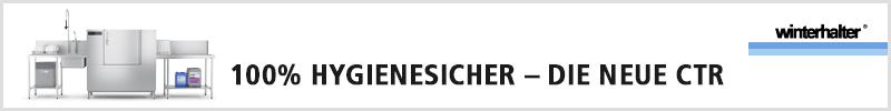 Kompakt-Korbtransport-Spülmaschine CTR von Winterhalter