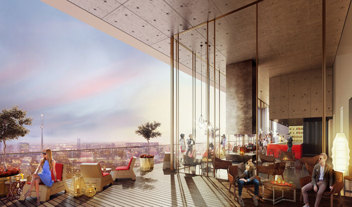25hours hotel d sseldorf er ffnet im fr hling 2018. Black Bedroom Furniture Sets. Home Design Ideas