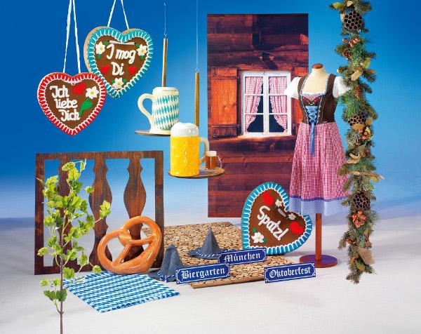bayerische dekoration wie dirndl bierkr ge und brezeln. Black Bedroom Furniture Sets. Home Design Ideas