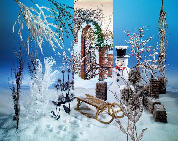 tolle winterdekoration von woerner. Black Bedroom Furniture Sets. Home Design Ideas